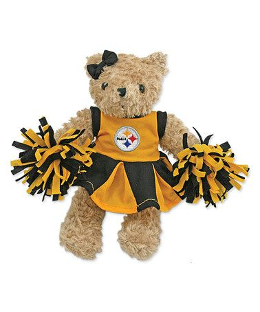 Take a look at this Pittsburgh Steelers Cheerleader Bear Plush Toy by Hunter on #zulily today!
