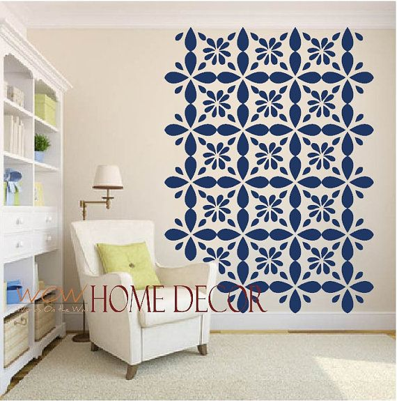 vinyl wall decal sticker art - moroccan geometric wall pattern