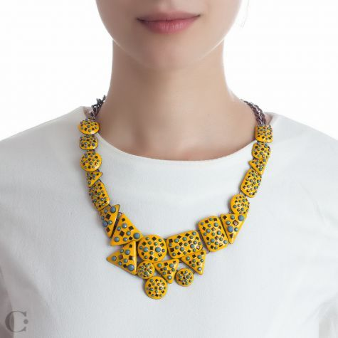 Statement :: Coliere Statement :: Colier Yellow Splash - Yellow Splash Statement Necklace :: www.cassandras.ro