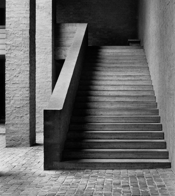 Outdoor staircase at the cloister of Vaals, by Dom Hans Van Der Laan. #GISSLER…