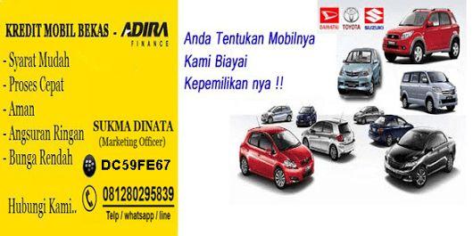 Leasing pembiayaan mobil bekas dengan cicilan yang ringan dan dp rendah untuk seluruh wilayah indonesia untuk keterangan dp mobil serta cicilan perbulan silahkan negosiasikan dengan marketing officer kami dibawah ini: Contact : Sukma Dinata Telp/Whatsapp: 081280295839 Website : http://www.adirakreditmobil.com/