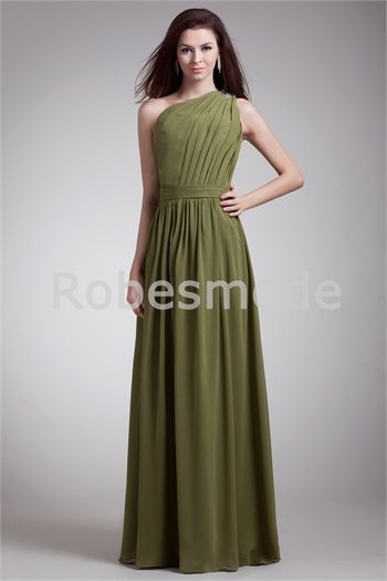 Robe soiree vert olive
