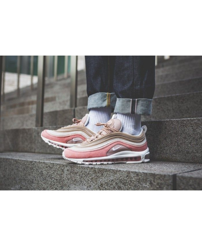 fed2205fe3196 Nike Air Max 97 Premium Particle Beige Summit White Rush Pink Shoes ...