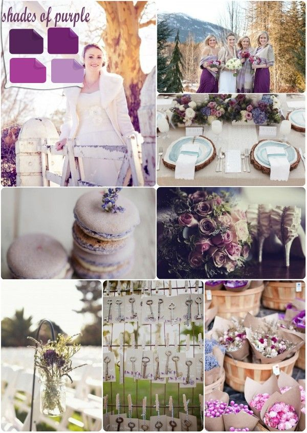 wedding ideas by color theme 17 best ideas about purple winter weddings on 28075
