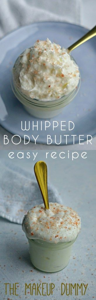 BEST easy whipped body butter recipe for dry skin and eczema #diybeauty #natural...