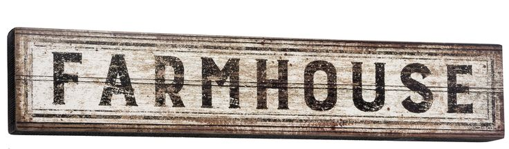 "Long wooden Farmhouse sign stands free so it is great for a shelf or mantle. Size 6""x30"""