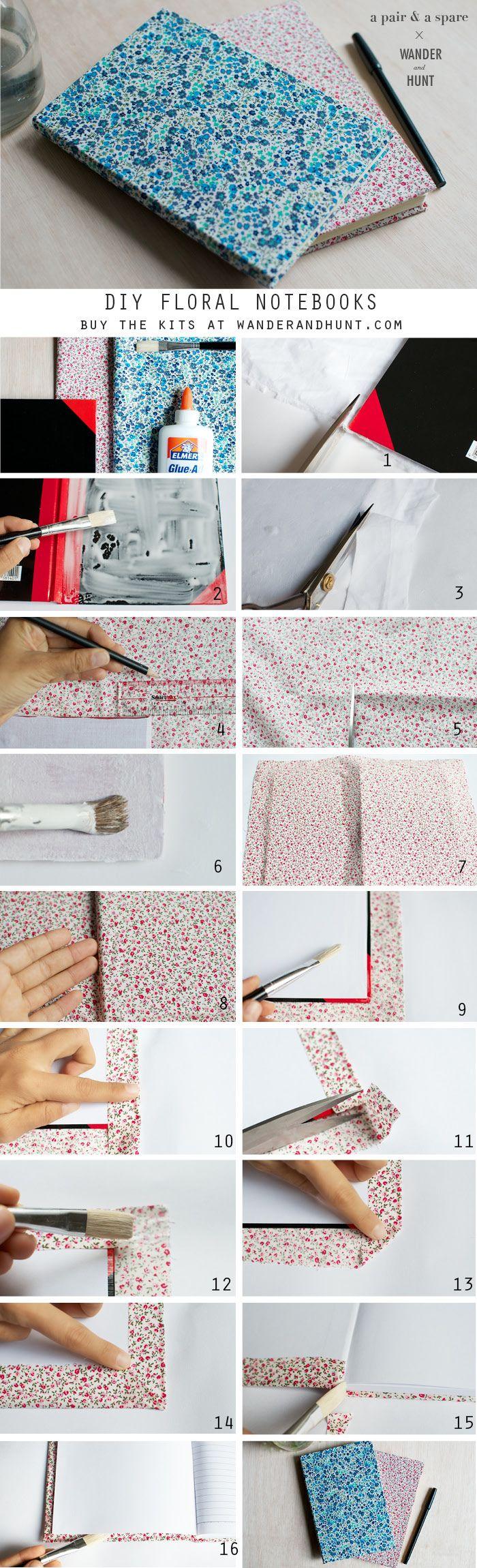 DIY Floral Notebooks | Wander & Hunt
