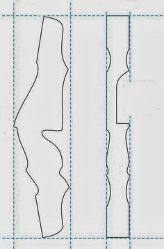 Disponibilizando para Downloads alguns projetos de Risers (empunhadura p/ arco) achados na internet.  O tamanho é real são duas folha de A4 v...