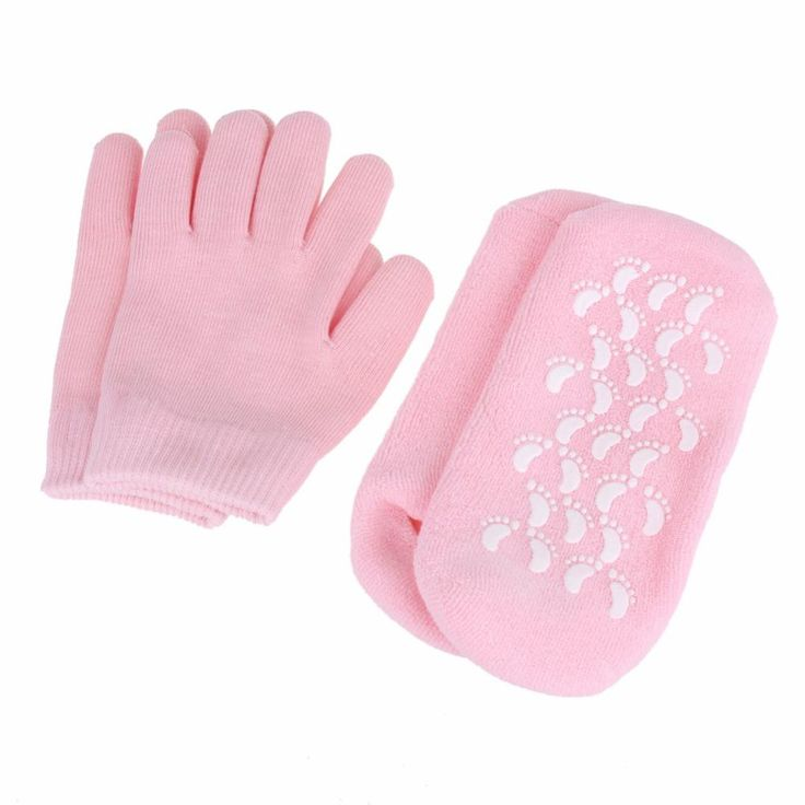 2 pairs Reusable SPA Gel Socks Gloves Moisturizing Whitening Exfoliating Foot Mask Ageless Beauty Hand Mask Silicone Socks