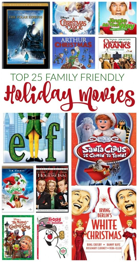 Best Holiday Movies for Familys! Christmas Movies and Kid Friendly Movies to enjoy for the Holidays!