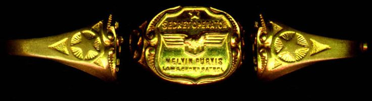 1937 Melvin Purvis FBI Secret Operator Premium Toy Ring | eBay