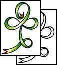 irish Tattoos, clover Tattoos, four-leaf-clover Tattoos, fourleafclover Tattoos, four Tattoos, leaf Tattoos, clover Tattoos, good-luck Tatto...