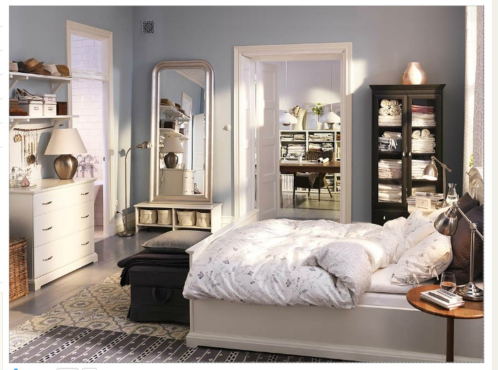Ikea room mixing dark and light furniture home sweet for Big w bedroom storage