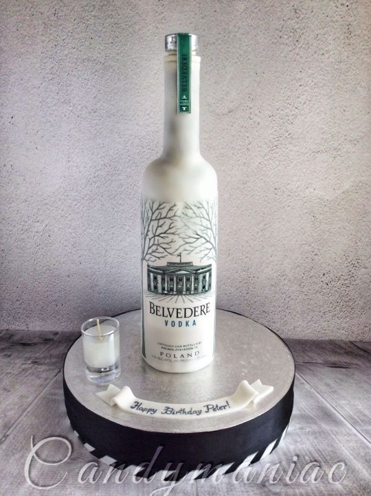 Belvedere Vodka Bottle Awesome Cakes Bottle Cake