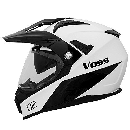 http://motorcyclespareparts.net/voss-601-d2-dual-sport-helmet-with-integrated-sun-lens-and-ratchet-quick-release-system-large-gloss-white-diamond/Voss 601 D2 Dual Sport Helmet with Integrated Sun Lens and Ratchet Quick Release System - Large - Gloss White Diamond