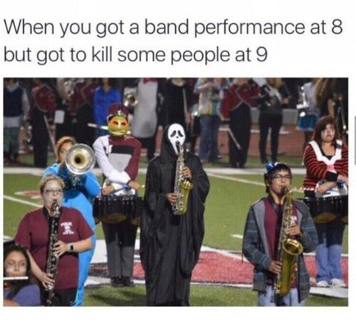 Marching band practice funny