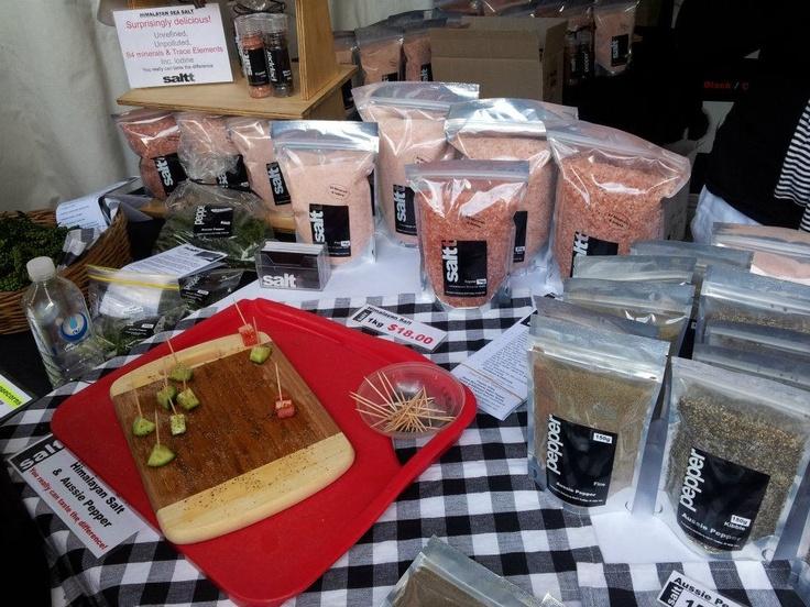 Salt Trading - with fresh green peppercorns.