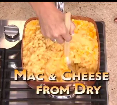 Copper Chef mac cheese from dry
