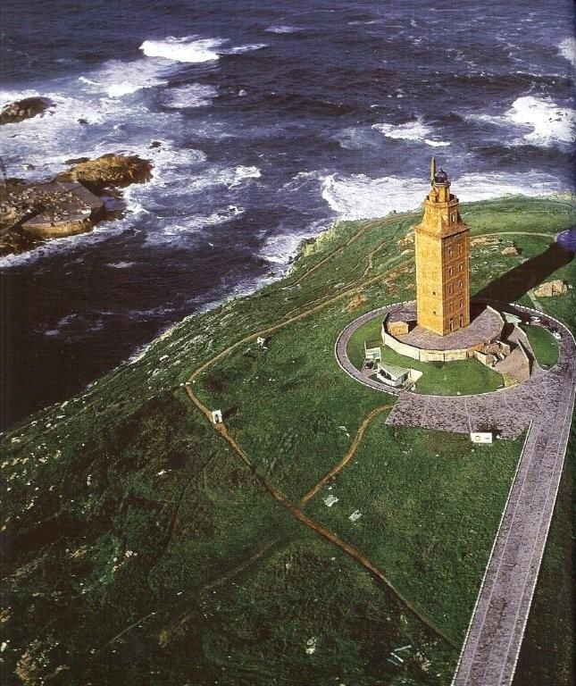 Torre de Hercules, La Coruña, Galicia, Spain. It actually does feel like the end of the world, standing here and looking out to the ocean!