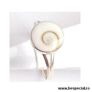 Inel argint cu scoica shiva - Bijuterii argint cu diverse materiale - Cadouri craciun, idei cadouri, cadouri barbati, cadouri online, cadouri copii, daruri, idei cadou