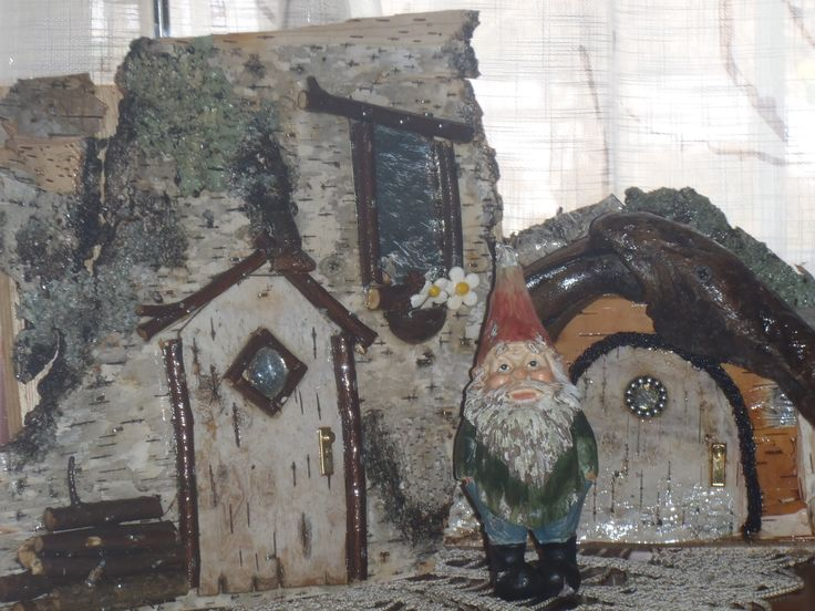 Gnome doors, good use for all the woodland treasures we collect