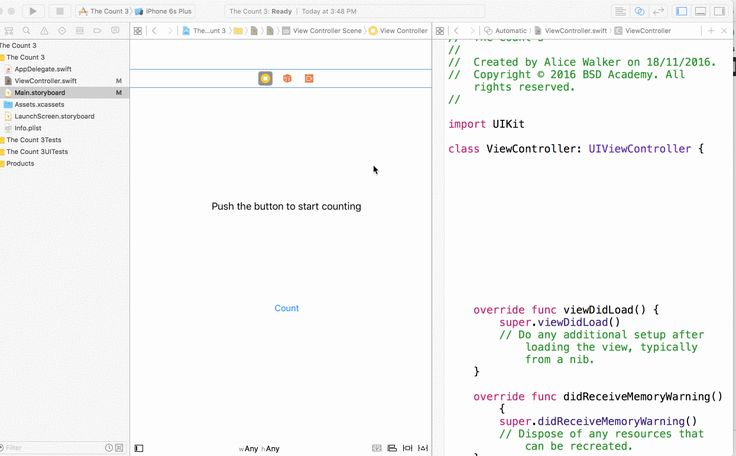 Connecting storyboard objects to the TableViewController in XCode for Native iOS app development