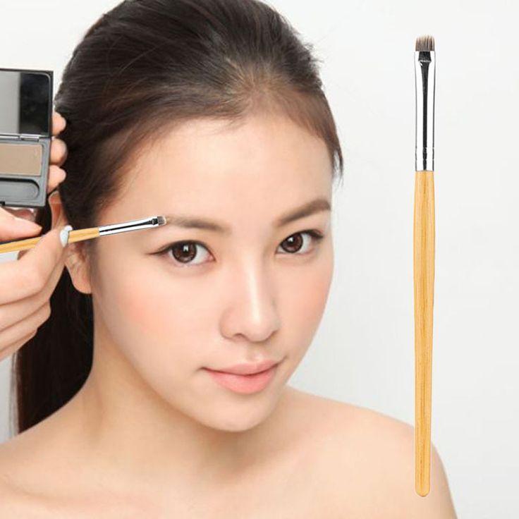 Fashion Woman Bamboo Handle Horse Hair Brush Eyebrow Powder Brush Concealer Shading Cosmetic Foundation Beauty Makeup Brush