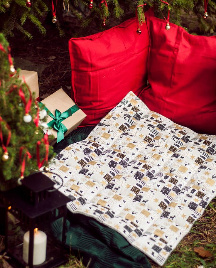 Dog christmas blanket