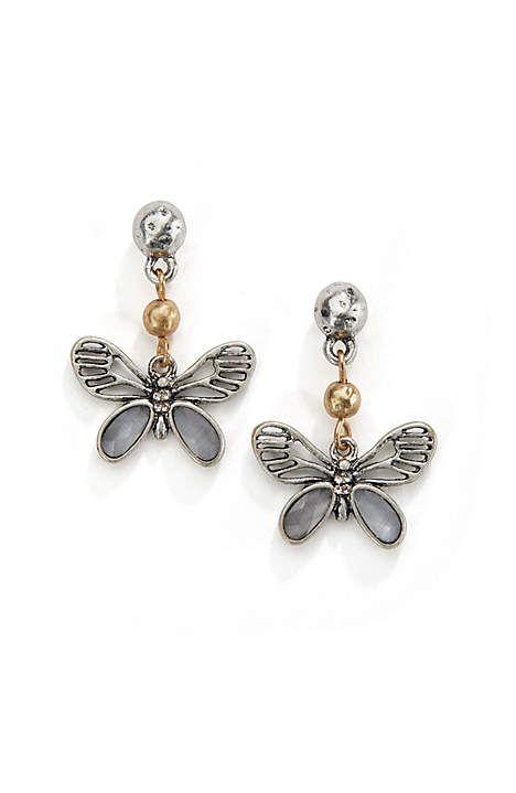 42f44a1c6 Image for Delicate Butterfly Earrings … | Butterfly Jewelry | Butte…