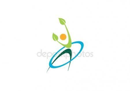#Wellness #health #care #people #logo #fitness #nature #body #circle #plant #human #leaf #active #symbol #icon #vector #design - https://depositphotos.com/portfolio-3904401.html?ref=3904401