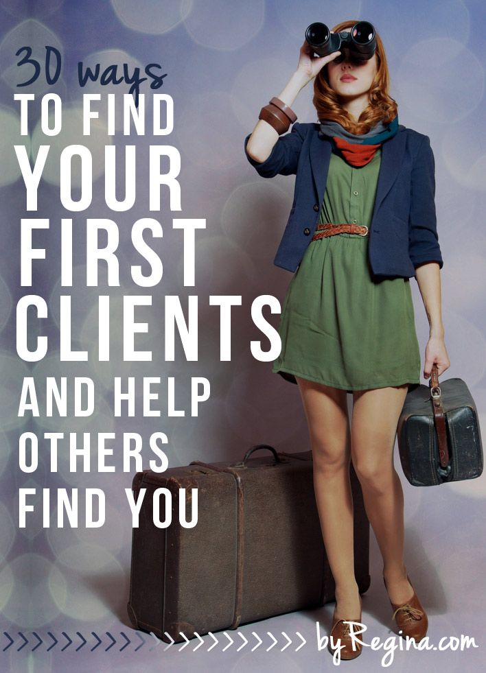 Whether you're an introvert, extrovert, or ambivert, this list will help you find your fist clients. Both active recruiting methods and ways to set yourself up (with a long-term strategy) for clients to find you are shared in: 30 Ways to Find Your First Clients