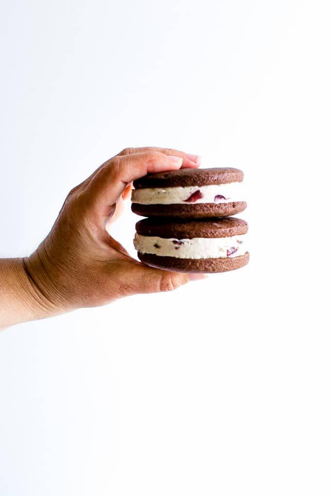 Chocolate Ice Cream Sandwich Cookies #Vegan gluten-free optional | Vanilla And Bean