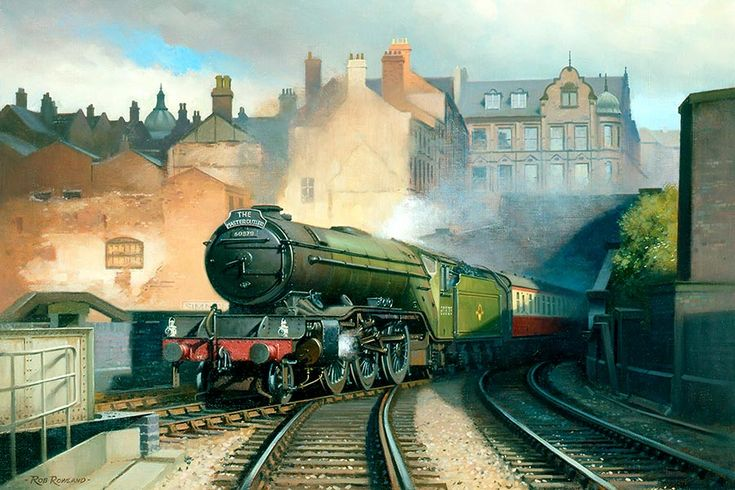 Weekday Cross Junction on the Great Central Railway in Nottingham. A Gresley V2 2-6-2 heads the Master Cutler, by Rob Rowland.
