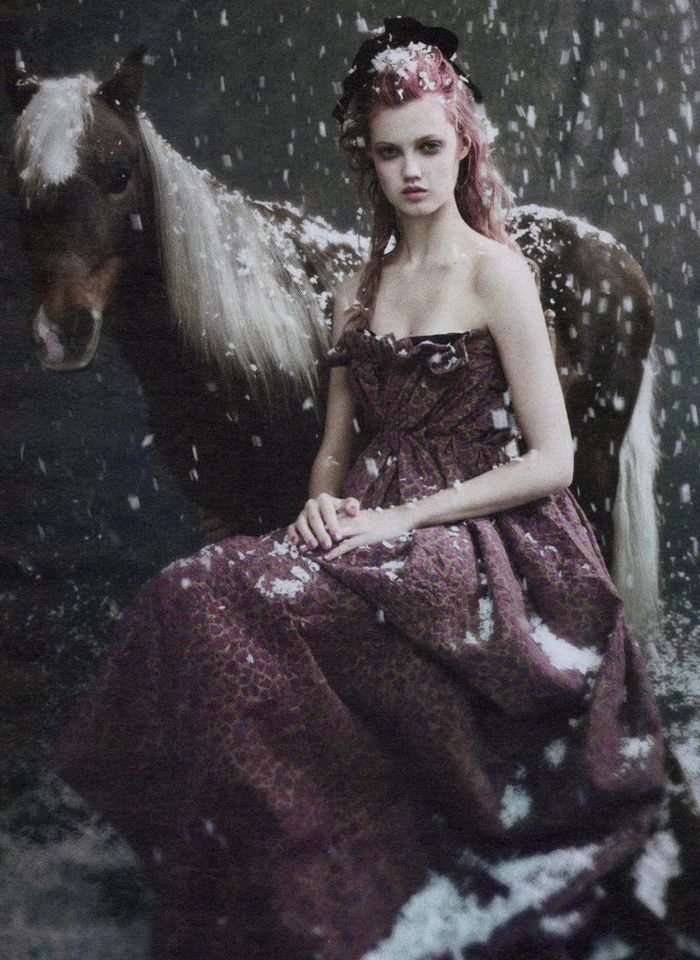 LIMROOM north | Paolo Roversi. 'Family Circus', Lindsey Wixson, W magazine.