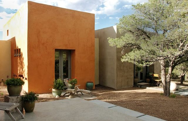 17 best images about design santa fe style on pinterest for Modern adobe houses