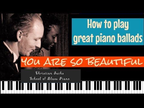 (362) How to play ´Your are so beautiful´ Joe Cocker version. Original intro and key. - YouTube