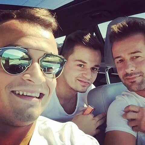 Xherdan Shaqiri ♡ with Ari and Pepe
