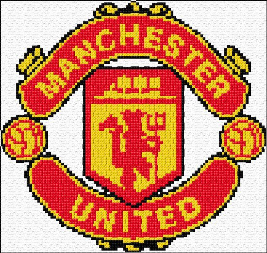 Manchester United logo Embroidery Kit 863 Cross stitch