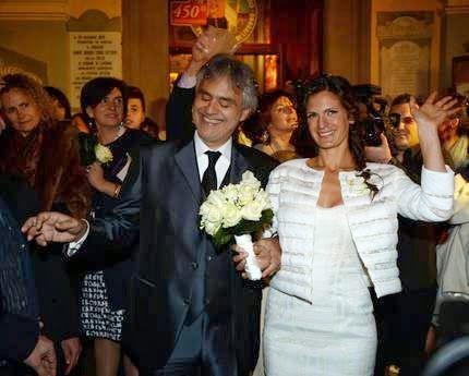Fashionista Smile: Nozze Andrea Bocelli-Veronica Berti: Blindate? Non per Noi