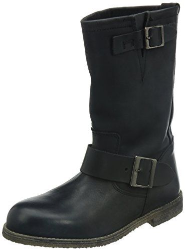 Buffalo London 13980 WASHED LEATHER, Damen Biker Boots, Schwarz (BLACK 01), 37 EU - http://on-line-kaufen.de/buffalo-london/37-eu-buffalo-london-13980-washed-leather-damen