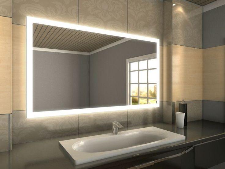 Fabulous Badspiegel mit LED Beleuchtung Dieser schicke LED Spiegel der nach Ihren Ma en gefertigt wird wird zweifelsfrei ein Juwel in Ihrem Badezimmer
