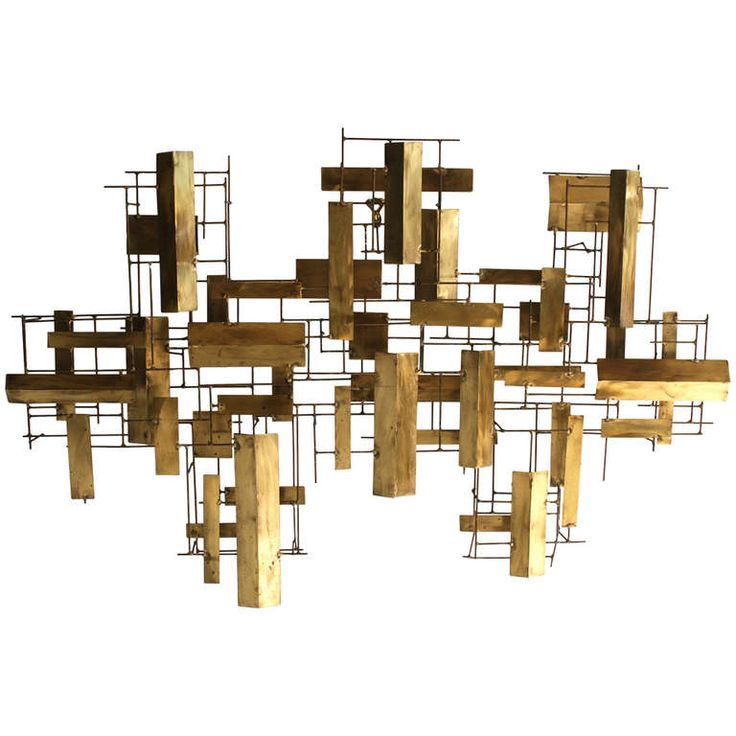 Abstract Metal Wall Sculpture | From a unique collection of antique and modern wall-mounted sculptures at https://www.1stdibs.com/furniture/wall-decorations/wall-mounted-sculptures/