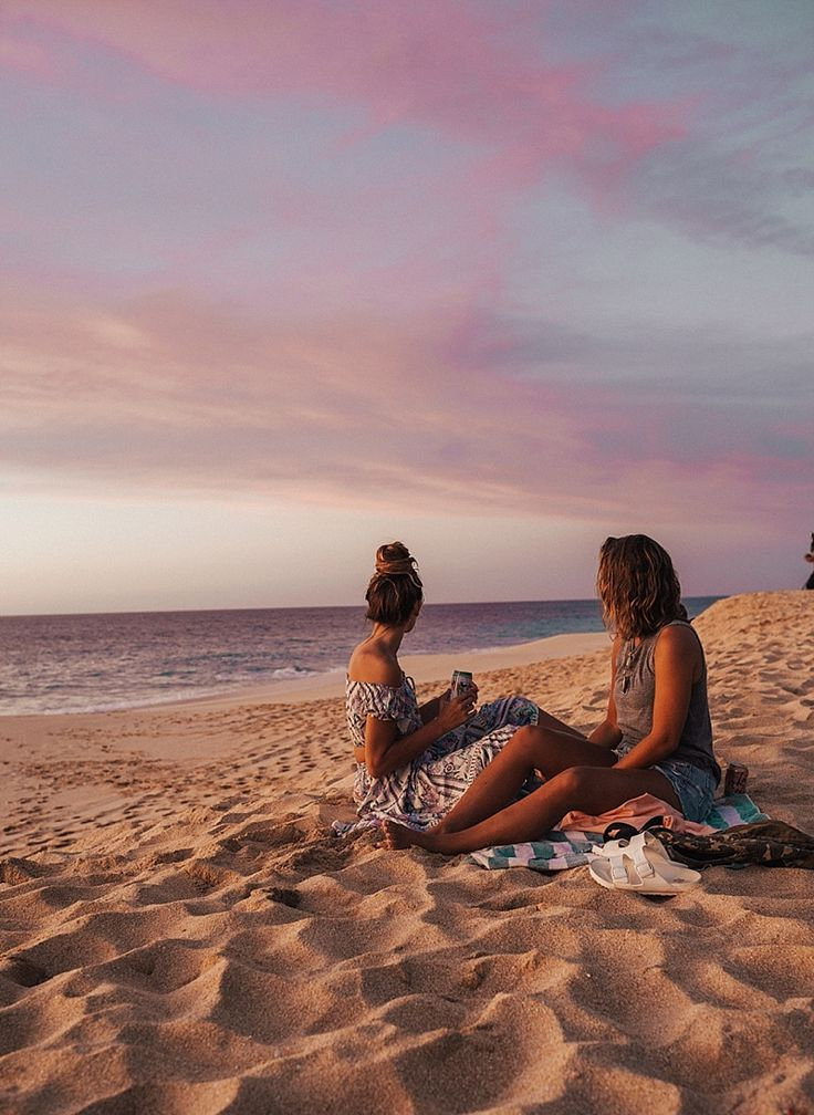best friends and sunsets  Oahu, Hawaii Travel Guide