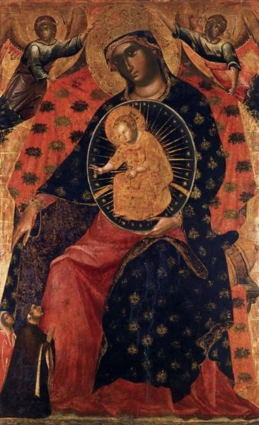 Madonna and Child with Two Votaries, 1325 - Paolo Veneziano