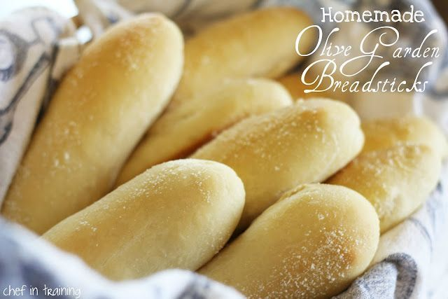 Homemade Olive Garden breadsticks. Mmmm. I've tried a couple copycat recipes. It's