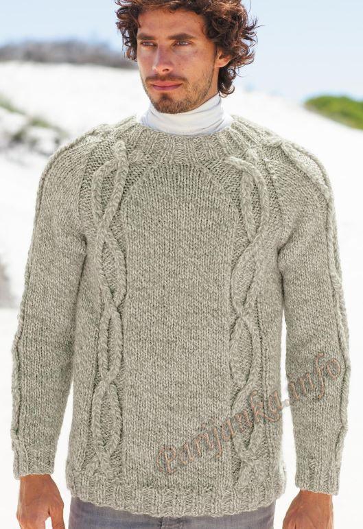 Мужской свитер (м) 874 Creations 14/15 Bergere de France №4580