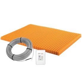 Schluter Systems 155 In X 195 In Orange 120 Volt Digital Underfloor Heating Mat Dhekrt12040 Flooring Heated Floors Warm Tiles