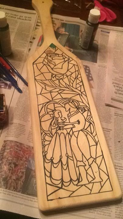 Beauty and the beast princess paddle