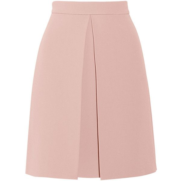 Gucci Pleated crepe skirt found on Polyvore