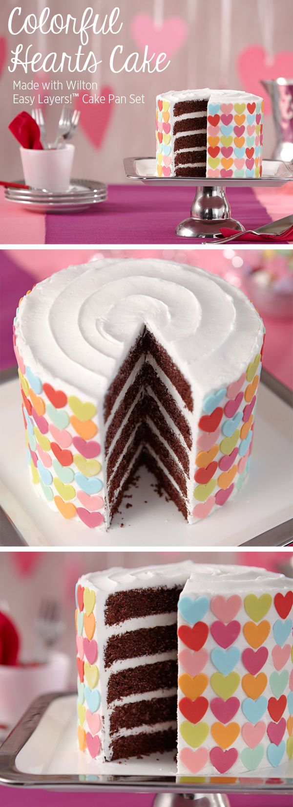 Fondant Heart Layer Cake